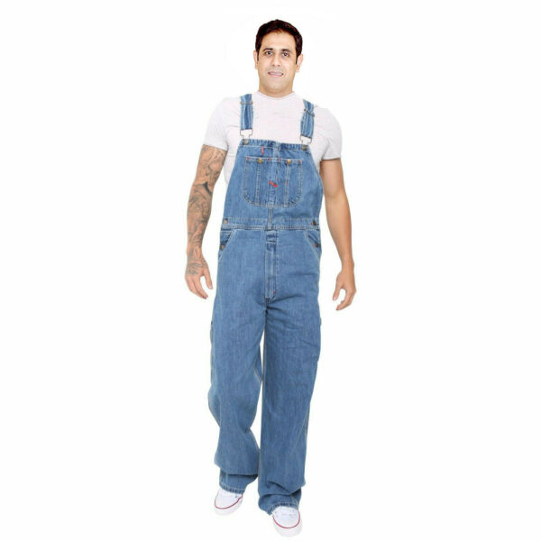 Men#x27;s Denim Dungarees Jeans Bib and Brace Overall Pro Heavy Duty Workwear Pants