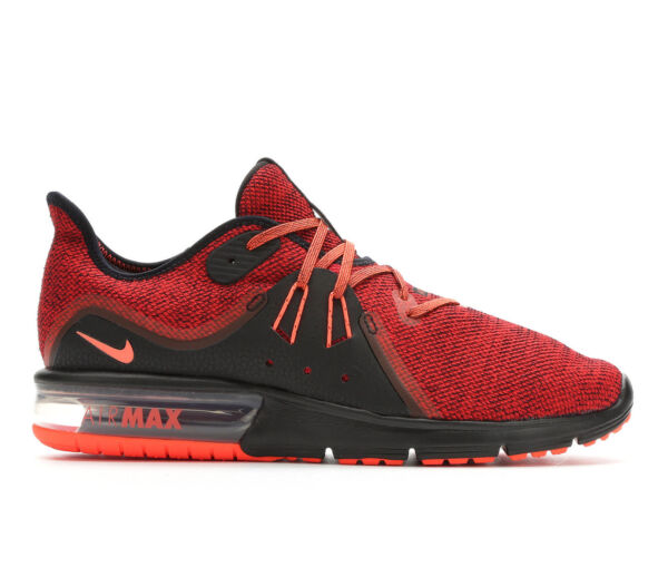Nike Air Max Sequent 3 Mens Running Training Shoes Black Crimson Red