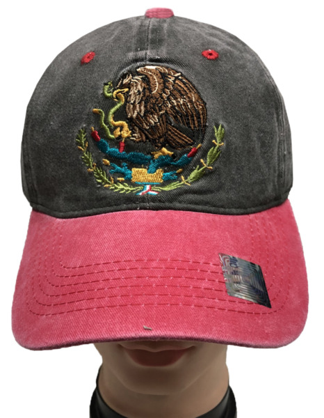 Mexico Federal Flag Cotton Denim Washed Polo Style Adjustable Baseball Hat LOT