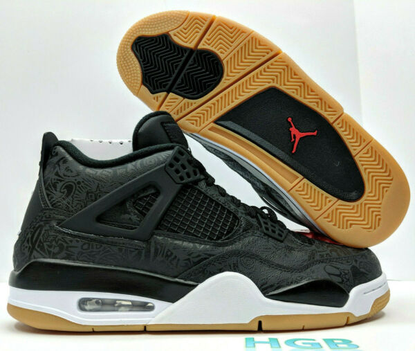 Nike Air Jordan Retro 4 IV SE Mens Laser Black Gum Light Brown CI1184-001 NIB
