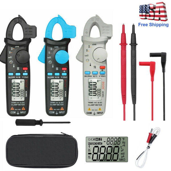 BSIDE ACM91 1mA Auto-Ranging ACDC Low Current Digital Clamp Meter NCV Temp Tool