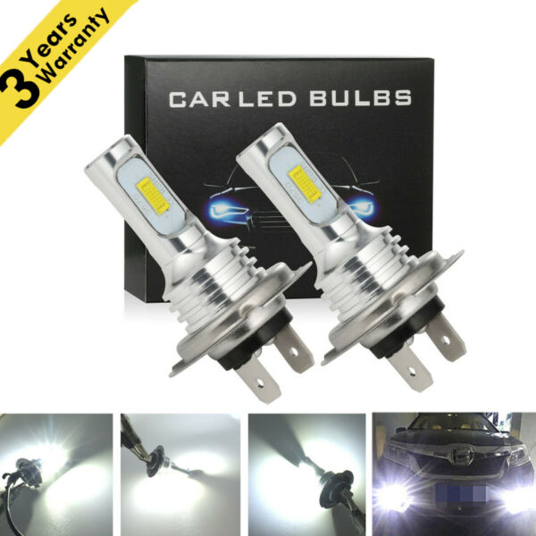 H7 LED Headlight Bulbs Conversion Kit Super HighLow Beam 4000LM 6000K White 80W