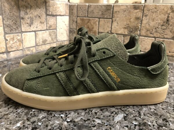 NEW! Adidas: Campus Crafted Rare Mens Size 8 (BW1249) Olive Green Charles Snead