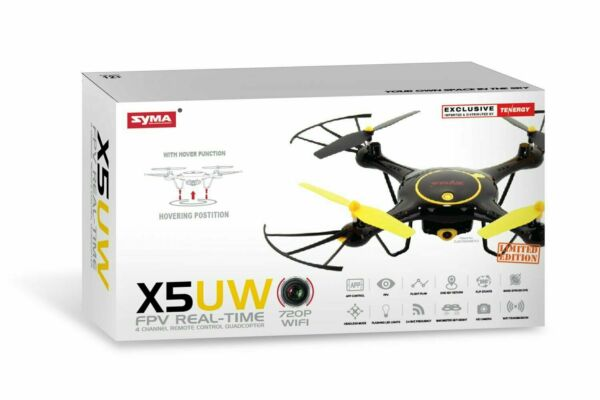 Tenergy Syma X5UW WiFi FPV Drone 720P HD Camera RC Drone 360° Roll Headless Mode