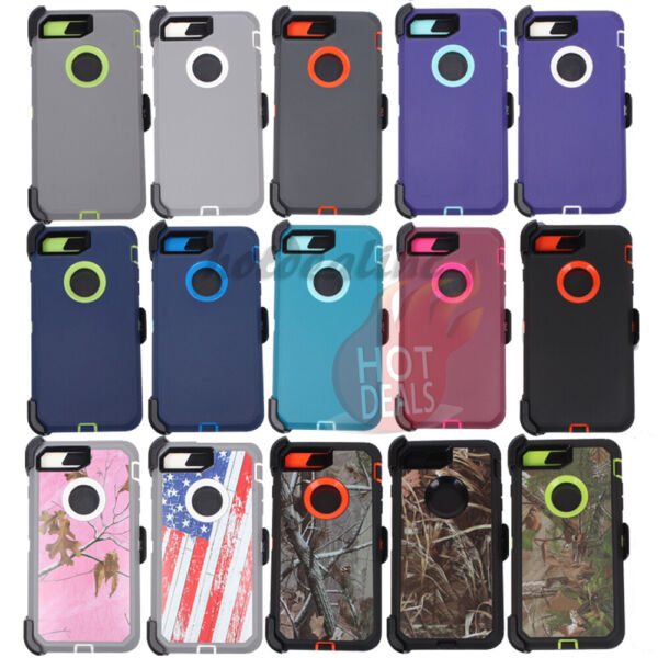 For iPhone 7 Plus 8 Plus XR XS Max Defender Case With Belt Clip fits Otterbox $9.99