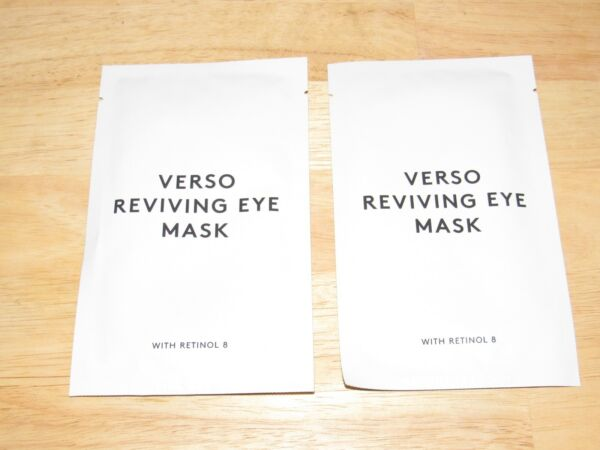 2 Pair Verso Reviving Eye Mask With Retinol 8 Gel Pads SEALED & Fresh April 2020