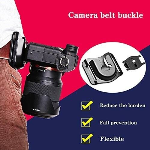 UJM Portable Quick Release Camera Belt Mount Hanger Sling Clip Holster SLR DSL