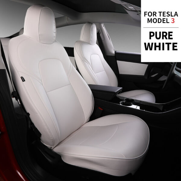 Bomely For Tesla Model 3 Car Seat Cover PU Leather Cover Protection 11pcs