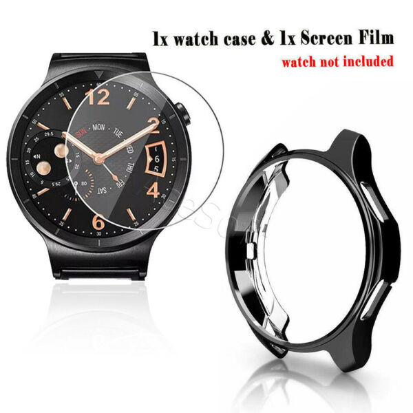 For Samsung Galaxy Watch 42mm Gear S2 Tempered Glass Screen Protector Case Cover