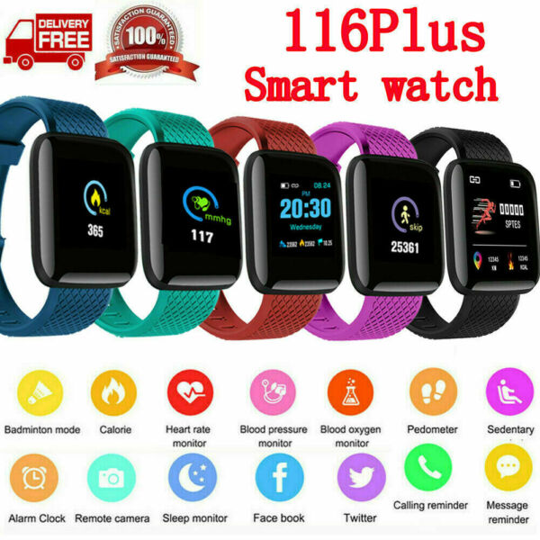 Smart Watch Band Heart Rate Blood Pressure Fitness Tracker Sport Band Bracelet