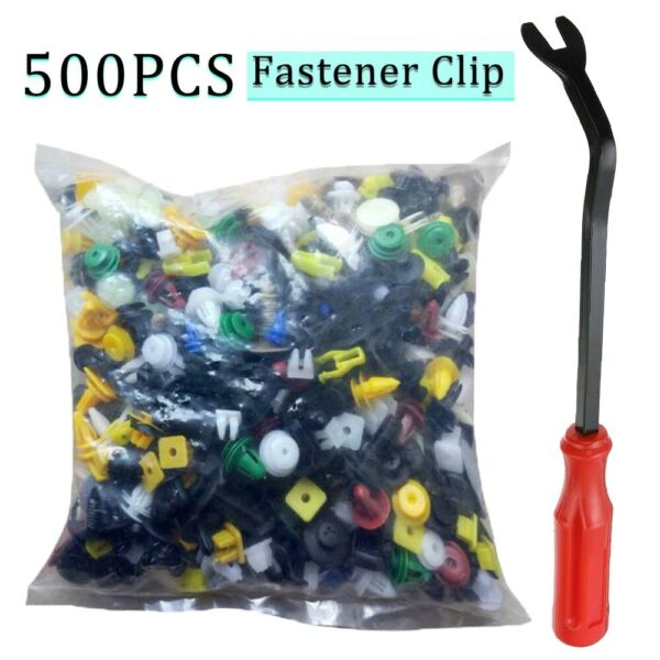 500 Clips Car Body Plastic Push Pin Rivet Trim Moulding Fastener Screwdriver Kit