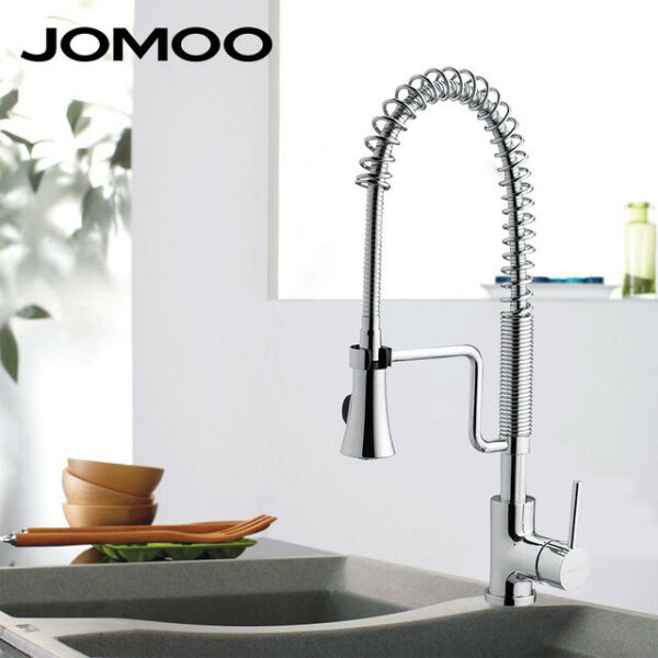 JOMOO Kitchen Faucet Swivel Spout Single Handle Sink Pull Down Spray Mixer Tap