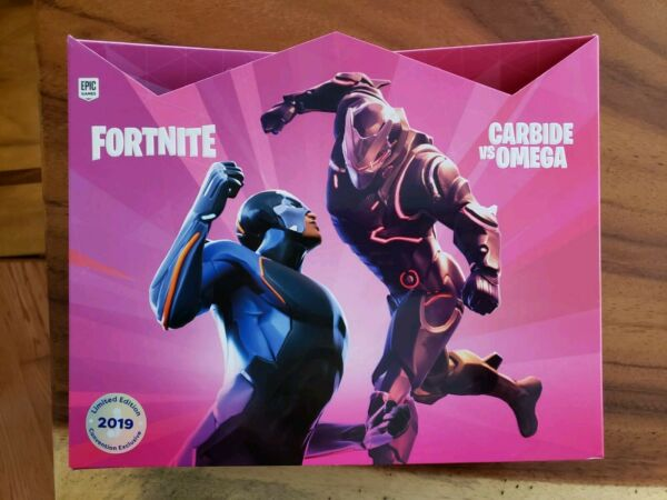 "SDCC 2019! Gentle Giant Fortnite Carbide vs Omega 4"" 2-Pack Figure Set Exclusive"