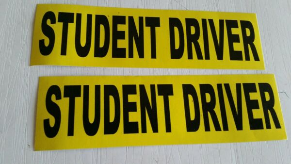 Student Driver Sticker Decal Safety Car Sign set of 2