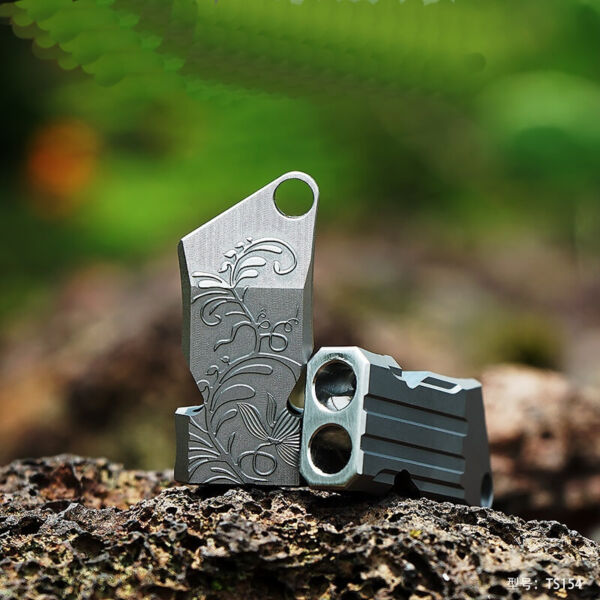 Titanium Whistle EDC Survival Emergency Necklace Twin Tubes SOS High Frequency