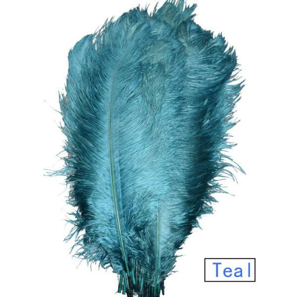 50100pcs Teal Ostrich Feathers for Wedding Party Centerpieces Home Decorations