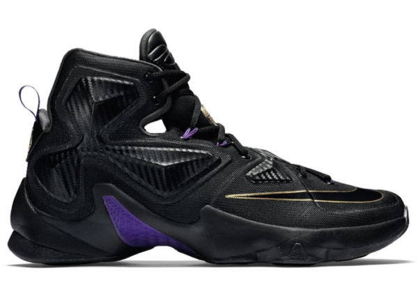 Lebron XIII 13 Pot of Gold Mens Basketball Sneakers Black Gold Purple
