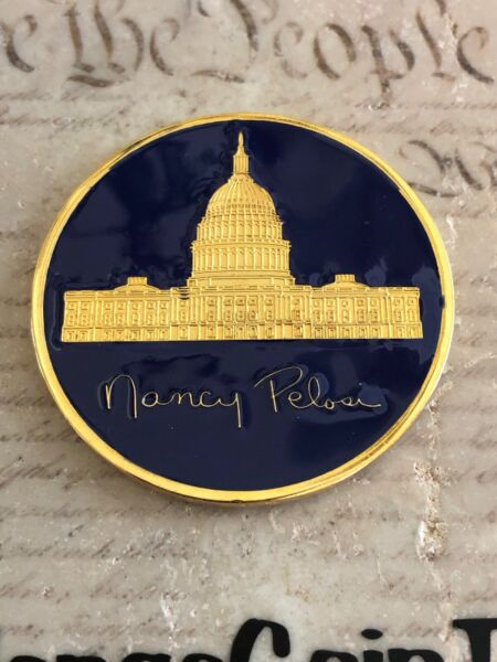 Nancy Pelosi 60th & 63rd Speaker of the House Democrat California Challenge Coin