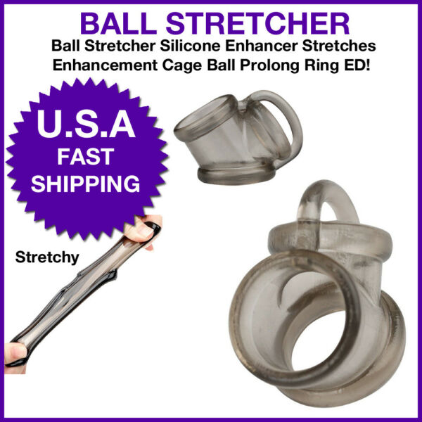 Ball Stretcher Silicone Enhancer Stretches Enhancement Cage Ball Prolong Ring ED