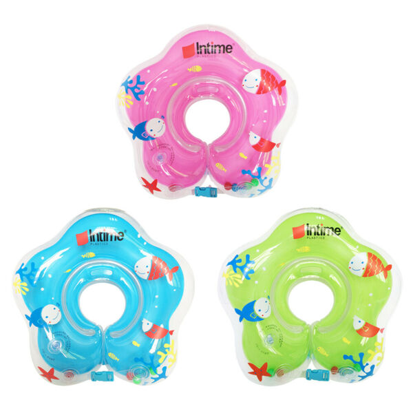 US Baby Swimming Neck Float Inflatables Ring Adjustable Safety Aids 1-12 Month