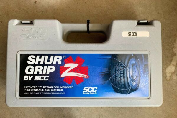 SHUR GRIP by SCC Z Cable Tire Snow Chains - # SZ339 - Never Used
