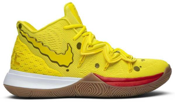 2019 Nike Kyrie 5 SpongeBob SquarePants Yellow New MEN & GS Size:3.5y-15