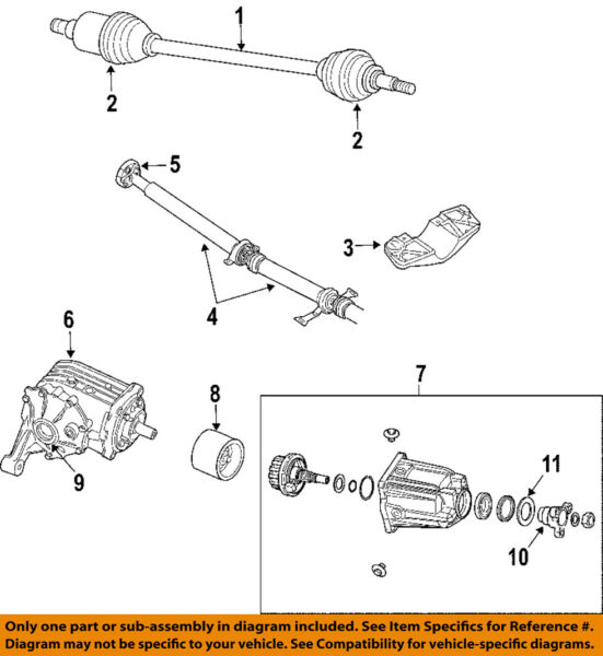 CHRYSLER OEM 04-06 Pacifica Rear Differential-Axle Seals 5134787AB