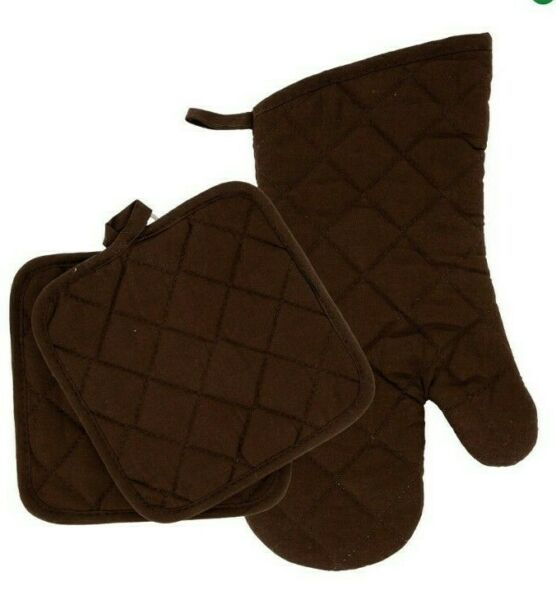 Home Collections - Kitchen Linens - Brown - Oven Mitt - Pot Holders