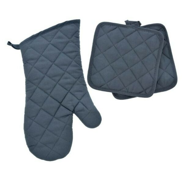 Home Collections - Kitchen Linens - Gray - Oven Mitt - Pot Holders