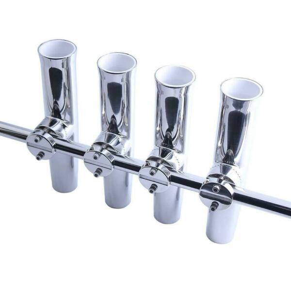 4Pcs Fishing Rod Holder For Boat Truck Marine Stainless Steel Fit 78''-1'' Rail