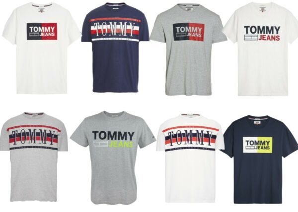 *NEW TOMMY HILFIGER JEANS Mens Classic Logo Crew neck T Shirt : XS XL $15.00