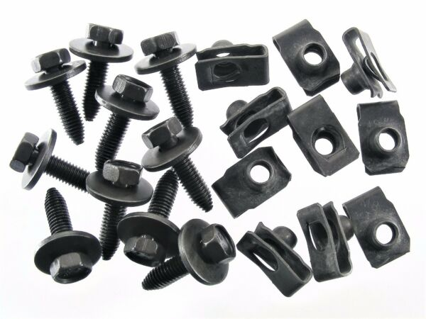 Chrysler Body Bolts & U-nut Clips- M8-1.25 x 30mm Long- 13mm Hex- 20 pcs- #154