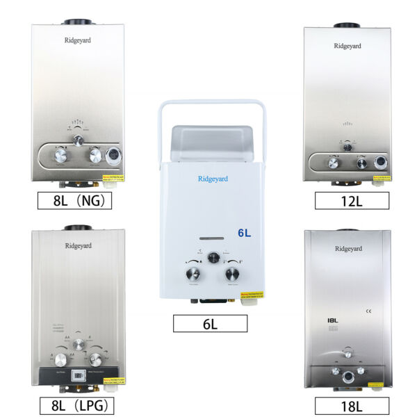 6L 8L 12L 18L LPG Nature Gas Tankless Water Heater Instant Hot Boiler Home $88.49
