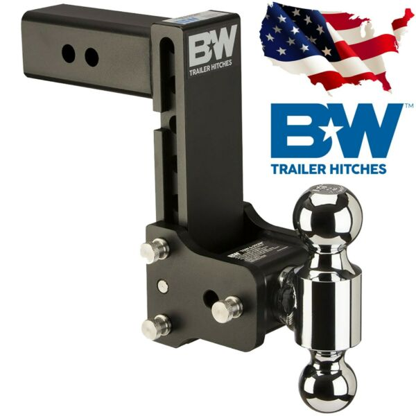 Bamp;W Trailer Hitches TS20040B Tow and Stow Hitch Ball Mount 2.5quot; SHANK Dual Ball