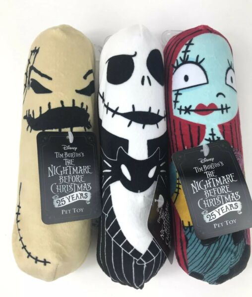 Lot of 3X Disney Squeaky Pet Toys Disney The Nightmare Before Christmas NWT $11.99
