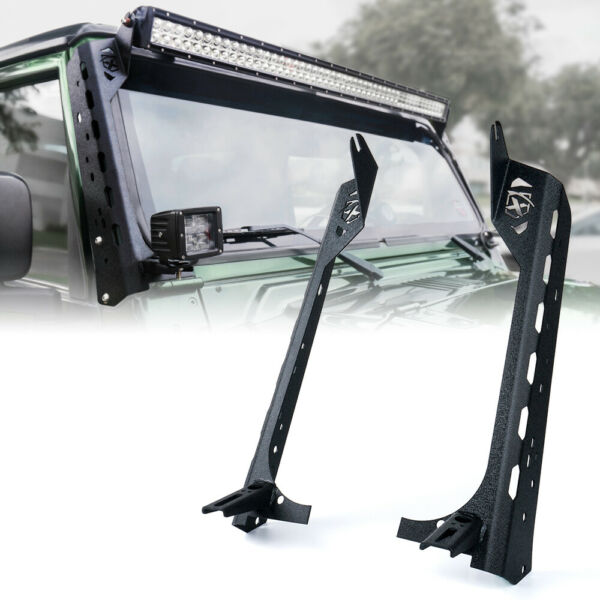 50quot; Mamba Series Front Windshield Light Bar Mount Brackets For Jeep Wrangler TJ
