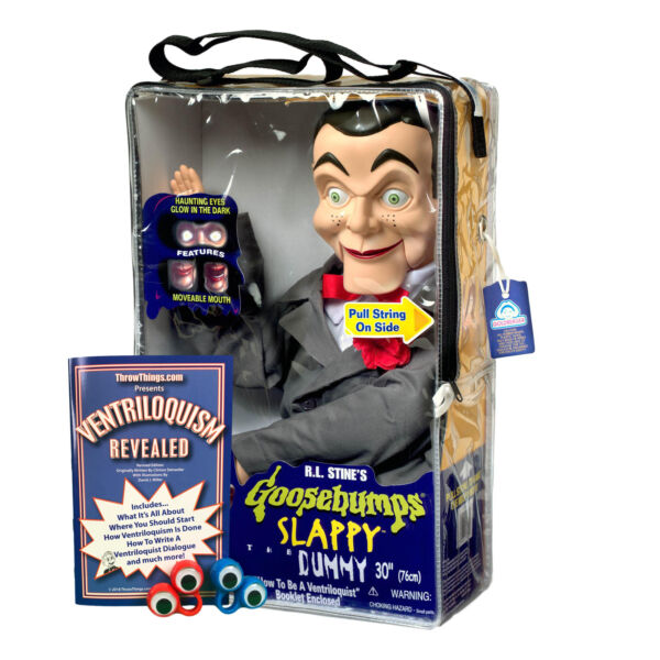 Bonus Bundle Slappy Goosebumps Ventriloquist Dummy Doll New Glowing Eyes