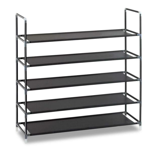 New Shoe Rack Organizer 5 Tier Layer Shelf Holder Adjustable Closet Space Saving