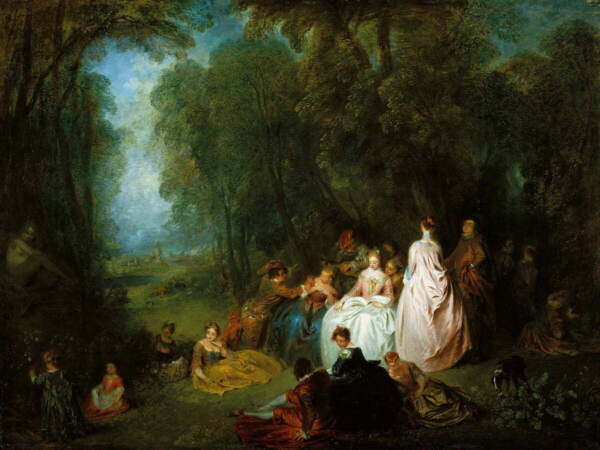 Antoine Watteau Pastoral Poster Reproduction Paintings Giclee Canvas Print