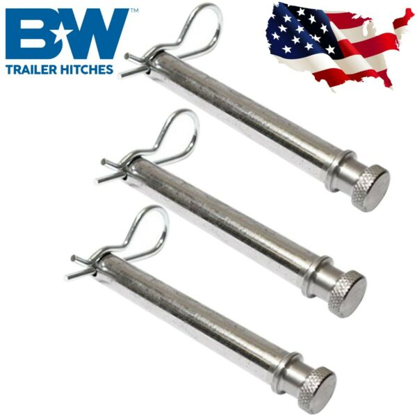 Bamp;W Hitches Set of 3 Stainless Steel Pins for 2 2.5inch Shank Tow amp; Stow Hitches