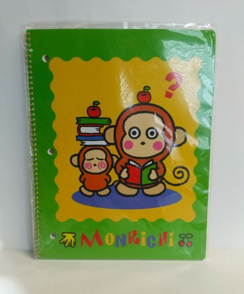 Sanrio Monkichi Notebook 40 Sheets 11quot; X 8.5quot; New In Package 1997