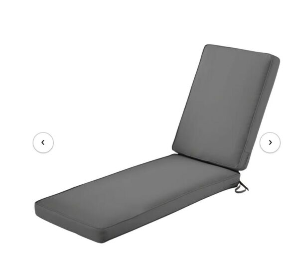 Two Searcy Outdoor Chaise Lounge Cushion $135.00
