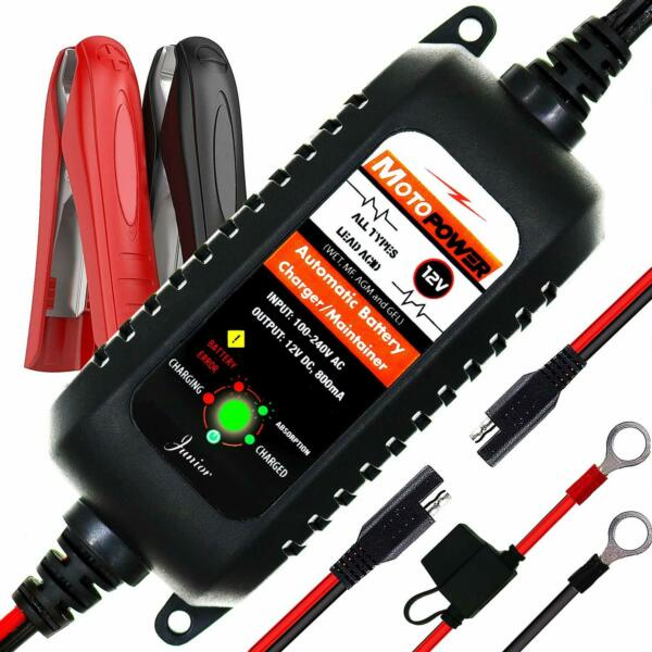 Car RV Truck Motorcycle Battery Charger Maintainer 12V Amp Volt Smart Trickle $27.28