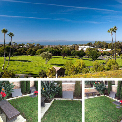 Pacific View Bench Estate 2 Side-by-Side Burial Cemetery Plot Corona Del Mar CA