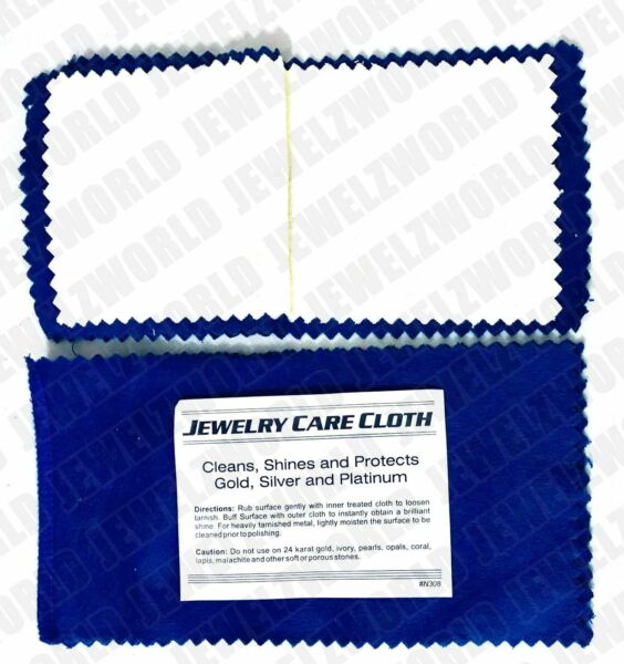 Jewelry Cleaning Polishing Cloth Silver Gold Brass Restore Shine Multipule Layer