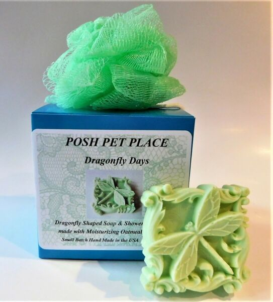 Posh Pet Place DRAGONFLY Shaped Soap amp; Shower Puff Set $11.95