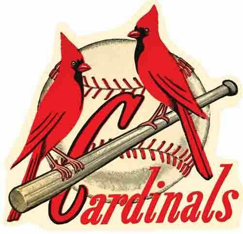 St. Louis Cardinals  Baseball  MLB   Vintage 1950's style  Travel Decal Sticker