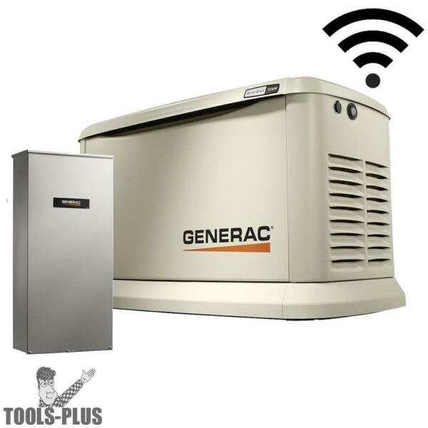 Generac 7043 Standby Generator 22KW Guardian WiFi +200a Auto Transfer Switch New