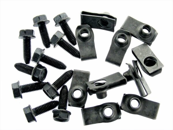 Mopar Body Bolts & U-nut Clips- M8-1.25 x 25mm Long- 13mm Hex- 20 pcs- #156