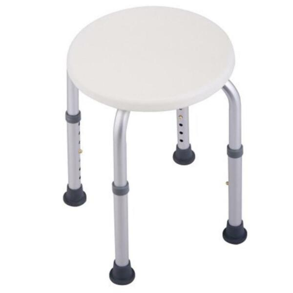 Round 7 Height Adjustable Medical Shower Stool Chair Bath Tub Seat White New
